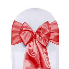 satin chair sashes satin chair sashes coral for weddings bridal tablecloths