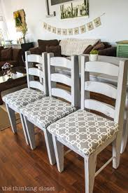 How To Upholster A Dining Room Chair How To Reupholster A Chair Seat The No Mess Method The Thinking