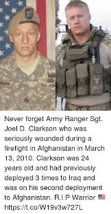 Army Ranger Memes - kson us ar never forget army ranger sgt joel d clarkson who was