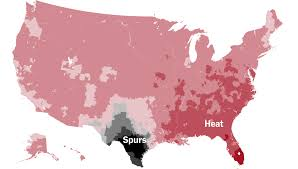 Zip Code Map San Jose by Which Team Do You Cheer For An N B A Fan Map The New York Times