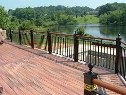 Metal Deck Bench Brackets - kitchen top amazing metal deck rail for residence decor railings