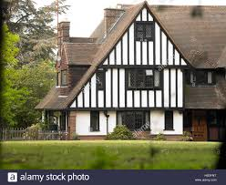 tudor style house exterior stock photo royalty free image