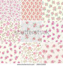 Shabby Chic Rose floral seamless pattern shabby chic rose stock vector 117591283