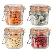 oggi kitchen canisters oggi 4 airtight glass canister set with cl lids and