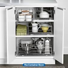 lower kitchen cabinet storage ideas our simplehuman pull out cabinet organizer is just right for