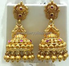 temple design gold earrings 60 fresh gold buttalu images wedding idea
