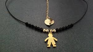 custom gold necklace custom gold boy girl charm pendant choker simple black leather