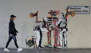 Banksy S Top 10 Most Creative And Controversial Nyc Works - it s nice that two new artworks on walls of barbican centre