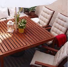 ikea outdoor dining table ikea solid acacia applaro outdoor dining table and reclining chair
