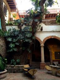 courtyard from hotel los arcos taxco mexican style decor