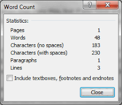 Count Same Words In Document Displaying Word Count In Microsoft Word