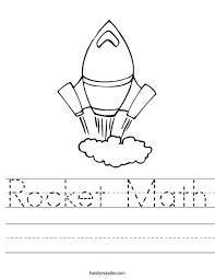 rocket math subtraction worksheets u0026 number names worksheets