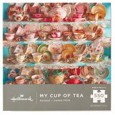 thanksgiving jigsaw puzzle my cup of tea 550 piece jigsaw puzzle puzzles u0026 games hallmark