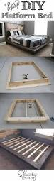 How To Make A Platform Bed Out Of Pallets - 25 easy diy bed frame projects to upgrade your bedroom homelovr
