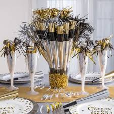Gold Table Centerpieces by White And Gold Centerpiece Idea Party City