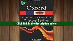 read online the concise oxford dictionary of linguistics oxford