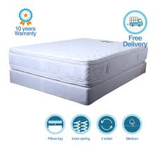 luxury double sided pillow top style mattress u2013 sydney bed