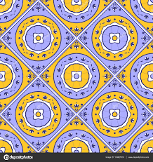 floral tile pattern vector seamless colorful blue white and