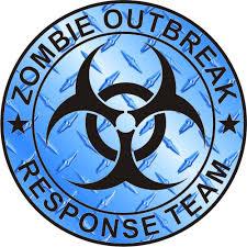 outbreak response team blue diamond plate zombie outbreak response team blue diamond plate