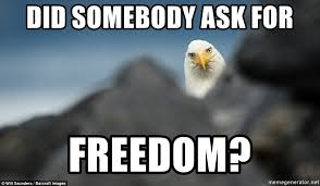 Freedom Eagle Meme - did somebody ask for freedom curious freedom eagle meme generator