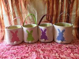 blank easter baskets wholesale canvas bunny easter basket blank easter egg hunt pale