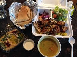 Dawali Mediterranean Kitchen Chicago - just got takeout chicken shawarma and grilled chicken kebob