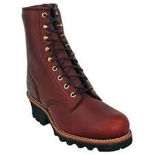 womens boots vibram sole chippewa l73026 s 8 inch unlined redwood logger boot