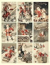 free to download printable vintage santa tags or cards holiday