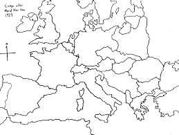 Europe Outline Map by World War Ii Tiered Instruction