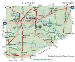 Texas County Map With Cities Eastland County The Handbook Of Texas Online Texas State