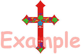 christian cross designs for embroidery machine instant