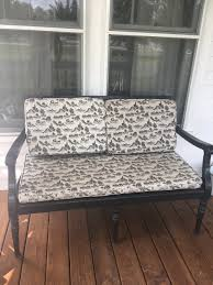 Front Porch Bench Diy How To Sew A Slipcover For A Wooden Bench Farmhouse On Boone