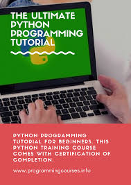 online tutorial of python the ultimate python programming tutorial programming tutorial