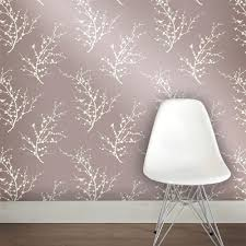 sprig modern classic metallic champagne ivory removable wallpaper