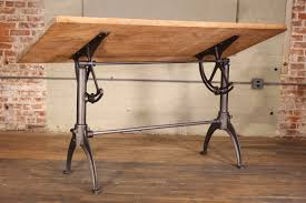 Drafting Table Antique Cast Iron U0026 Maple Adjustable Drafting Table Get Back Inc