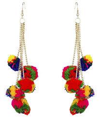 stylish earrings fj style woolen stylish earring set buy fj style woolen stylish