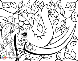 bohemian elephant trace and coloring page digiprint https www