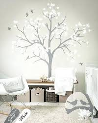 White Tree Wall Decal Nursery Remarkable Wall Decals Baby Nursery Uk Butterfly Removable