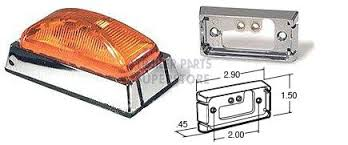 truck lite marker lights truck lite model 15 marker light w chrome mount 15506y