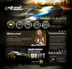 car racing website template 22997