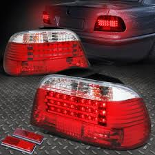 e38 euro tail lights 3d led streak for 1995 2001 bmw e38 7 series red clear tail light