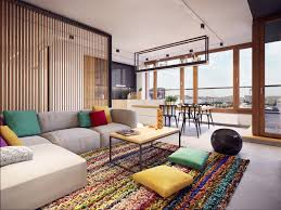 Colorful Modern Apartment Design Uses Space To Beautiful Effect - Modern apartment design