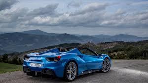blue ferrari convertible blue ferrari 488 4k wallpaper free 4k wallpaper