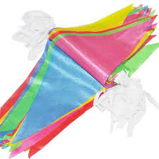Safety Pennant Flags 125 Feet Multicolor String Banners Nylon Fabric Pennant Bunting