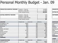 How To A Spreadsheet For Monthly Bills Best Free Budget Templates Spreadsheets Budgeting Software