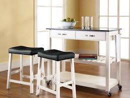 kitchen island furniture black wooden bar stools with white seat