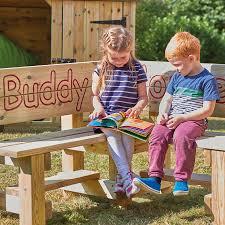 buy outdoor wooden buddy corner bench tts