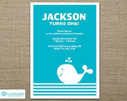 first birthday invitation whale invitation nautical birthday