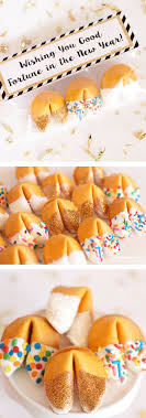 new year s fortune cookies glitter dipped fortune cookie party favors