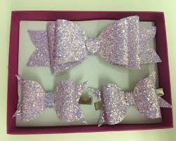 handmade bows handmade pale pink glitter hair clip bows by hare and the hat